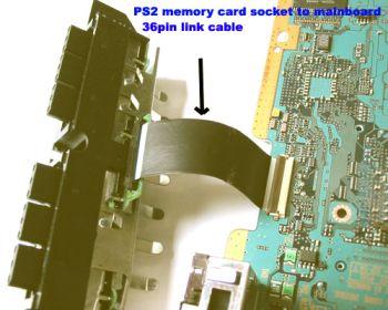 PS2 36pin Memory Socket Link Cable - PS2 36pin Memory Socket Link Cable Cable para reemplazar el cable que une la consola y los mandos+memoricard
