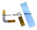 Cable conexion lente y pcb, 3 versiones disponibles (v3), (v4-V10) y (v12-V13) - Recambio del cable de conexión entre la lente y la unidad lectora. Muy difícil de conseguir. 3 versiones difrente segun la version de consola