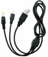 PSP/PSP2000/PSP3000 USB Power Cable y Datos - PSP/PSP2000/PSP3000  USB Power Cable permite conectar tu PSP a cualquier dispositivo USB, como PC, PS2, ... para obtener corriente y recargarla. Asi como transmitir datos entre tu pc y la consola en la tarjeta de memoria.