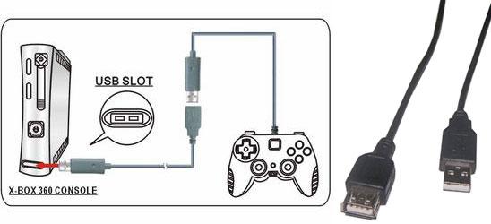 XBOX 360 Controller Extension Cable - Este cable prolongador dobla la distancia entre el mando y la consola Xbox 360.