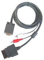 VGA HD Cable Xbox 360 - Cable VGA para Xbox 360. Compatible con monitores y televisores CRT, LCD y HDTV con entrada VGA. Sonido estéreo. Conectores de alta calidad.