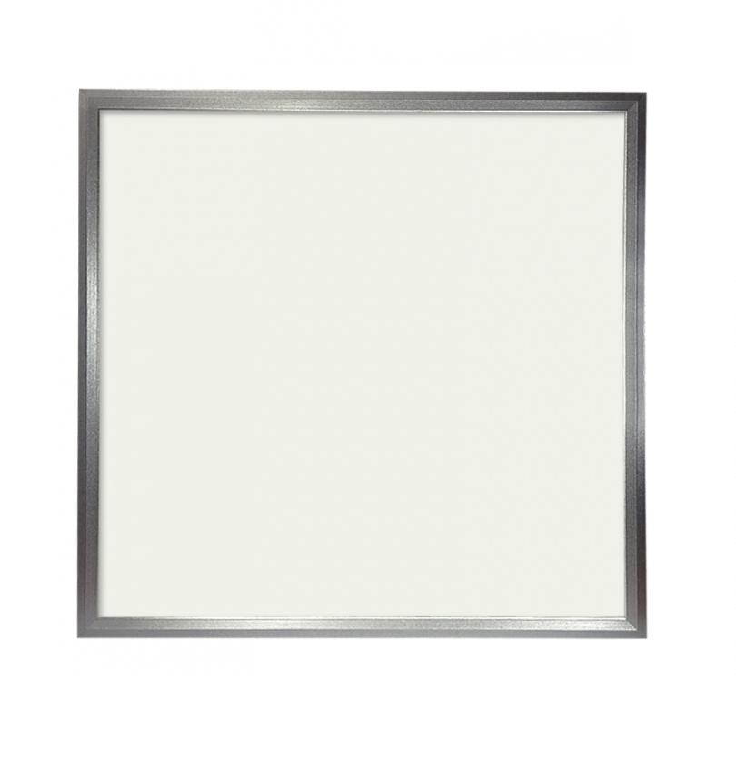 Panel LED Slim 60x60cm 48W Marco Plata 4300 LUMENS COLOR Blanco ...